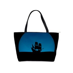 Ship Night Sailing Water Sea Sky Shoulder Handbags