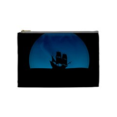 Ship Night Sailing Water Sea Sky Cosmetic Bag (medium)