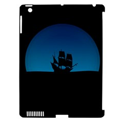 Ship Night Sailing Water Sea Sky Apple Ipad 3/4 Hardshell Case (compatible With Smart Cover)