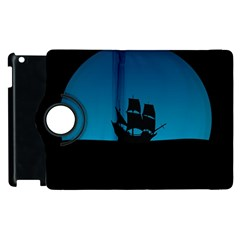Ship Night Sailing Water Sea Sky Apple Ipad 2 Flip 360 Case