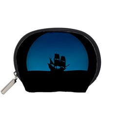 Ship Night Sailing Water Sea Sky Accessory Pouches (small)