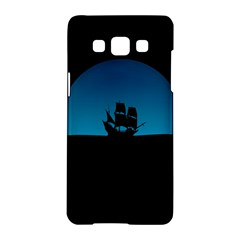 Ship Night Sailing Water Sea Sky Samsung Galaxy A5 Hardshell Case