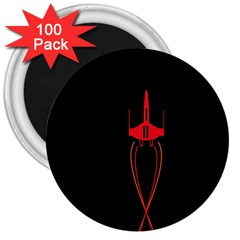 Ship Space Spaceship 3  Magnets (100 Pack)