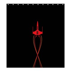 Ship Space Spaceship Shower Curtain 66  X 72  (large)