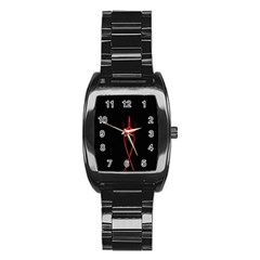 Ship Space Spaceship Stainless Steel Barrel Watch