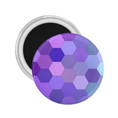 Purple Hexagon Background Cell 2 25  Magnets