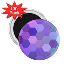 Purple Hexagon Background Cell 2 25  Magnets (100 Pack)