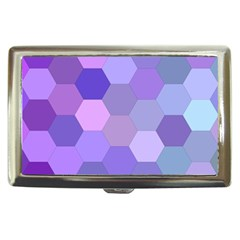 Purple Hexagon Background Cell Cigarette Money Cases