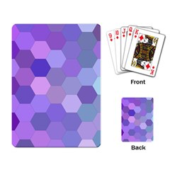 Purple Hexagon Background Cell Playing Card