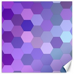 Purple Hexagon Background Cell Canvas 16  X 16