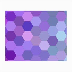 Purple Hexagon Background Cell Small Glasses Cloth (2 Side)