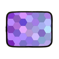 Purple Hexagon Background Cell Netbook Case (small)