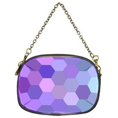 Purple Hexagon Background Cell Chain Purses (one Side)