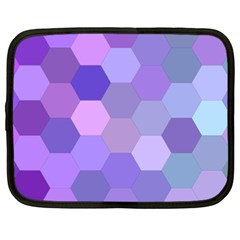 Purple Hexagon Background Cell Netbook Case (xxl)