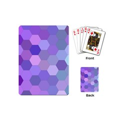 Purple Hexagon Background Cell Playing Cards (mini)