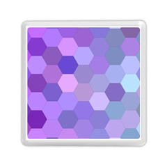 Purple Hexagon Background Cell Memory Card Reader (square)