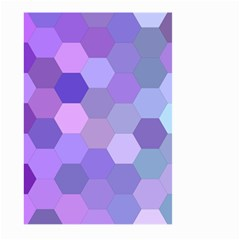 Purple Hexagon Background Cell Large Garden Flag (two Sides)