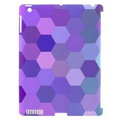 Purple Hexagon Background Cell Apple Ipad 3/4 Hardshell Case (compatible With Smart Cover)