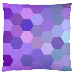 Purple Hexagon Background Cell Large Cushion Case (one Side)