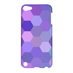 Purple Hexagon Background Cell Apple Ipod Touch 5 Hardshell Case