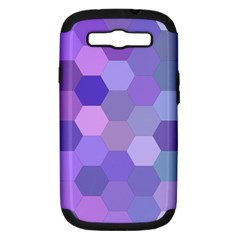 Purple Hexagon Background Cell Samsung Galaxy S Iii Hardshell Case (pc+silicone)