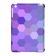Purple Hexagon Background Cell Apple Ipad Mini Hardshell Case (compatible With Smart Cover)