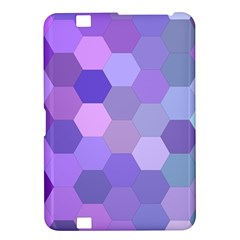 Purple Hexagon Background Cell Kindle Fire Hd 8 9