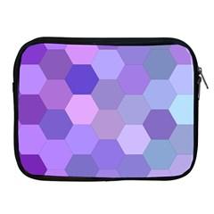 Purple Hexagon Background Cell Apple Ipad 2/3/4 Zipper Cases