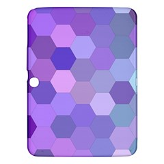 Purple Hexagon Background Cell Samsung Galaxy Tab 3 (10 1 ) P5200 Hardshell Case