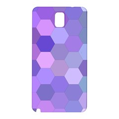 Purple Hexagon Background Cell Samsung Galaxy Note 3 N9005 Hardshell Back Case