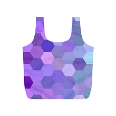 Purple Hexagon Background Cell Full Print Recycle Bags (s)