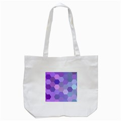 Purple Hexagon Background Cell Tote Bag (white)