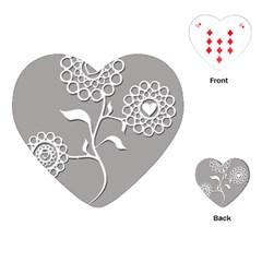 Flower Heart Plant Symbol Love Playing Cards (heart)