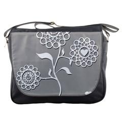 Flower Heart Plant Symbol Love Messenger Bags