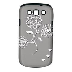 Flower Heart Plant Symbol Love Samsung Galaxy S Iii Classic Hardshell Case (pc+silicone)