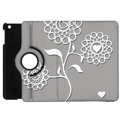 Flower Heart Plant Symbol Love Apple Ipad Mini Flip 360 Case
