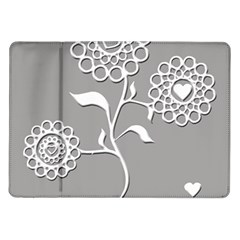 Flower Heart Plant Symbol Love Samsung Galaxy Tab 10 1  P7500 Flip Case