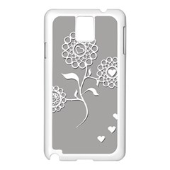 Flower Heart Plant Symbol Love Samsung Galaxy Note 3 N9005 Case (white)