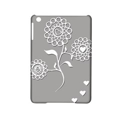 Flower Heart Plant Symbol Love Ipad Mini 2 Hardshell Cases