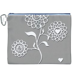 Flower Heart Plant Symbol Love Canvas Cosmetic Bag (xxxl)