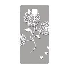 Flower Heart Plant Symbol Love Samsung Galaxy Alpha Hardshell Back Case