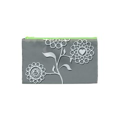 Flower Heart Plant Symbol Love Cosmetic Bag (xs)