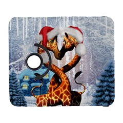 Christmas, Giraffe In Love With Christmas Hat Galaxy S3 (flip/folio)