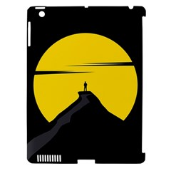 Man Mountain Moon Yellow Sky Apple Ipad 3/4 Hardshell Case (compatible With Smart Cover)