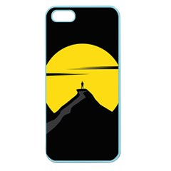 Man Mountain Moon Yellow Sky Apple Seamless Iphone 5 Case (color)