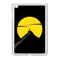 Man Mountain Moon Yellow Sky Apple Ipad Mini Case (white)