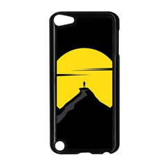 Man Mountain Moon Yellow Sky Apple Ipod Touch 5 Case (black)