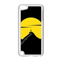Man Mountain Moon Yellow Sky Apple Ipod Touch 5 Case (white)
