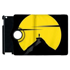 Man Mountain Moon Yellow Sky Apple Ipad 3/4 Flip 360 Case