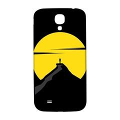 Man Mountain Moon Yellow Sky Samsung Galaxy S4 I9500/i9505  Hardshell Back Case
